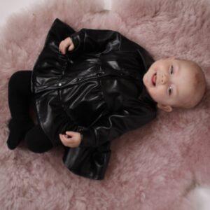 Baby – Lola Leatherlook Dress Zwart